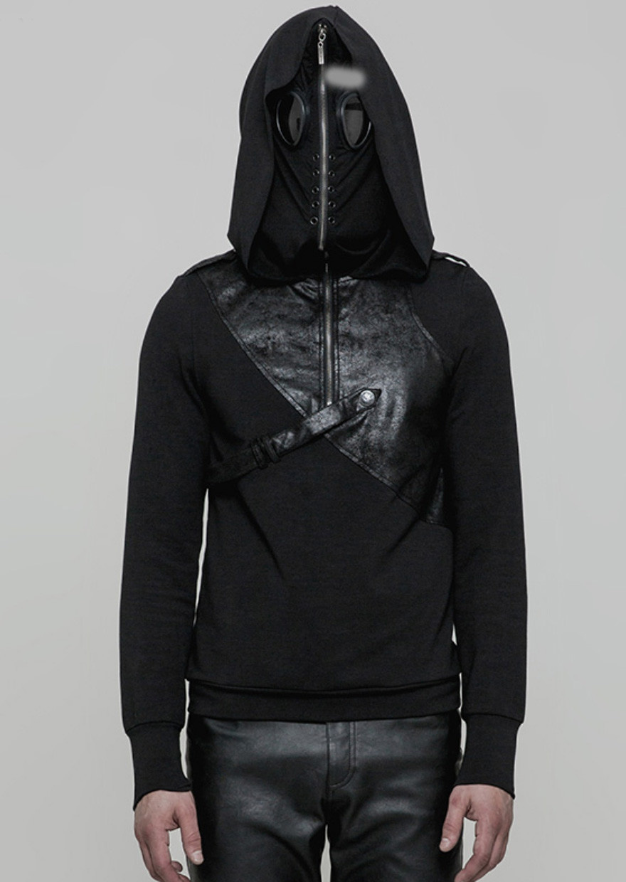 PNKR Pullover Hoodie w/ Zip-Up Mask