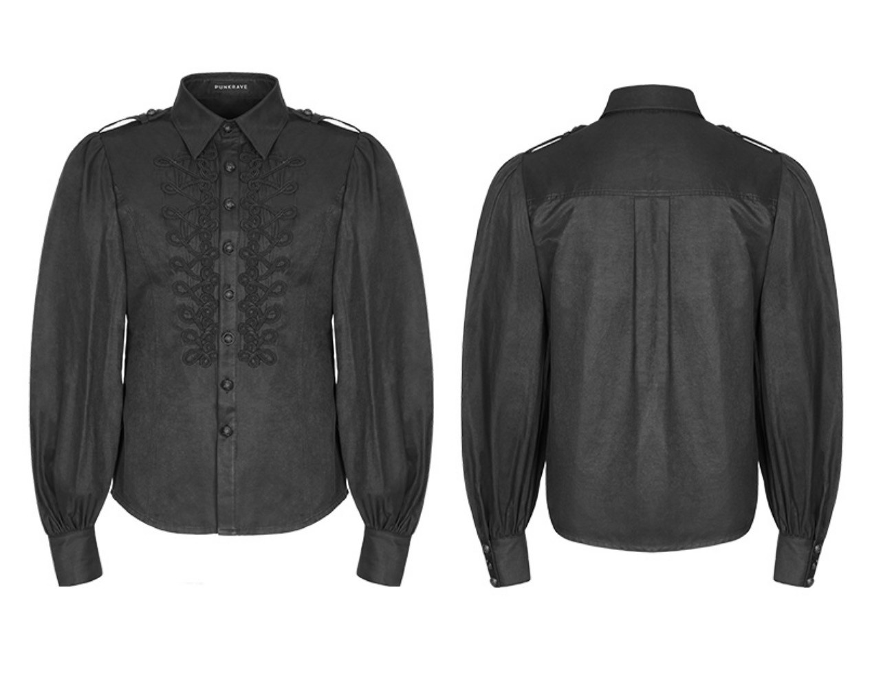 Gothic Long Puffy Sleeve Shirt