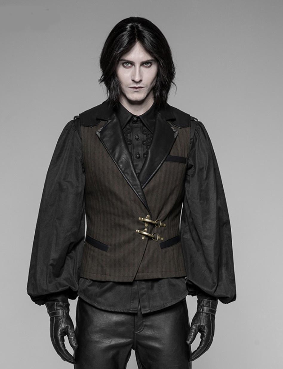 Gothic Vest w/ Leatherette Lapel