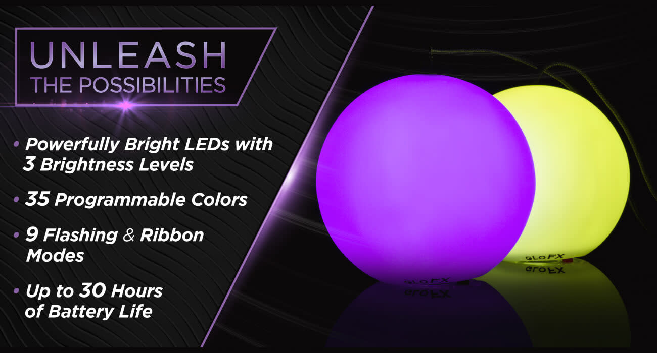 Space Whips Multicolor Glowing LED Poi Orbs