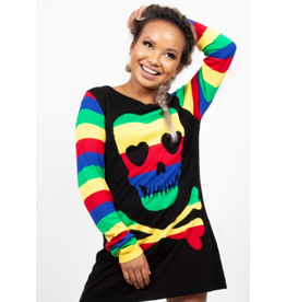Jawbreaker Rainbow Skull Sweater