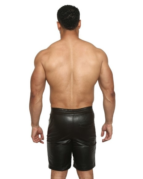 Faux Leather Runner Short