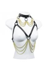 Drape Chain Choker Bra Harness