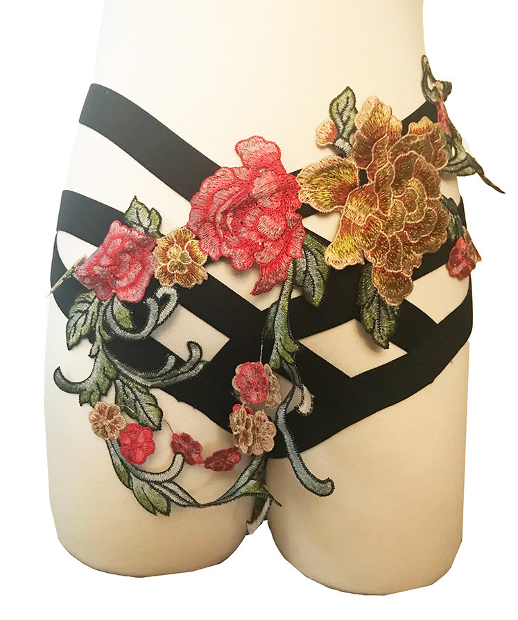 Floral Multi-Strap Harness Brief