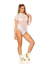 J. Valentine Lace Up Shoulder Bodysuit