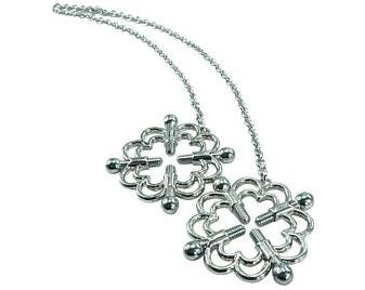 Ornate Nipple Clamps w/ Chain
