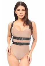 Leatherette Double Waist Strap Harness