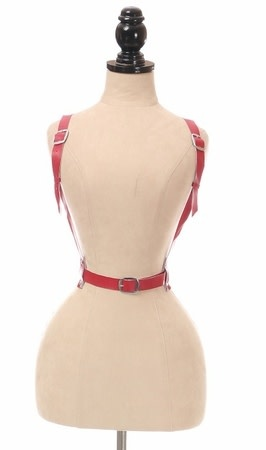 Daisy Leatherette Bow Harness