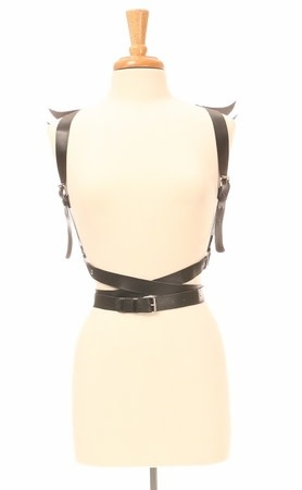 Daisy Winged Cupid Leatherette Wrap Harness