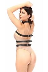 Daisy Leatherette Triple Body Strap Harness