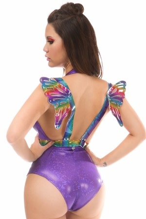 Daisy Leatherette Fairy Wing Harness