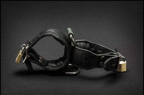 Leather Cross Cuffs
