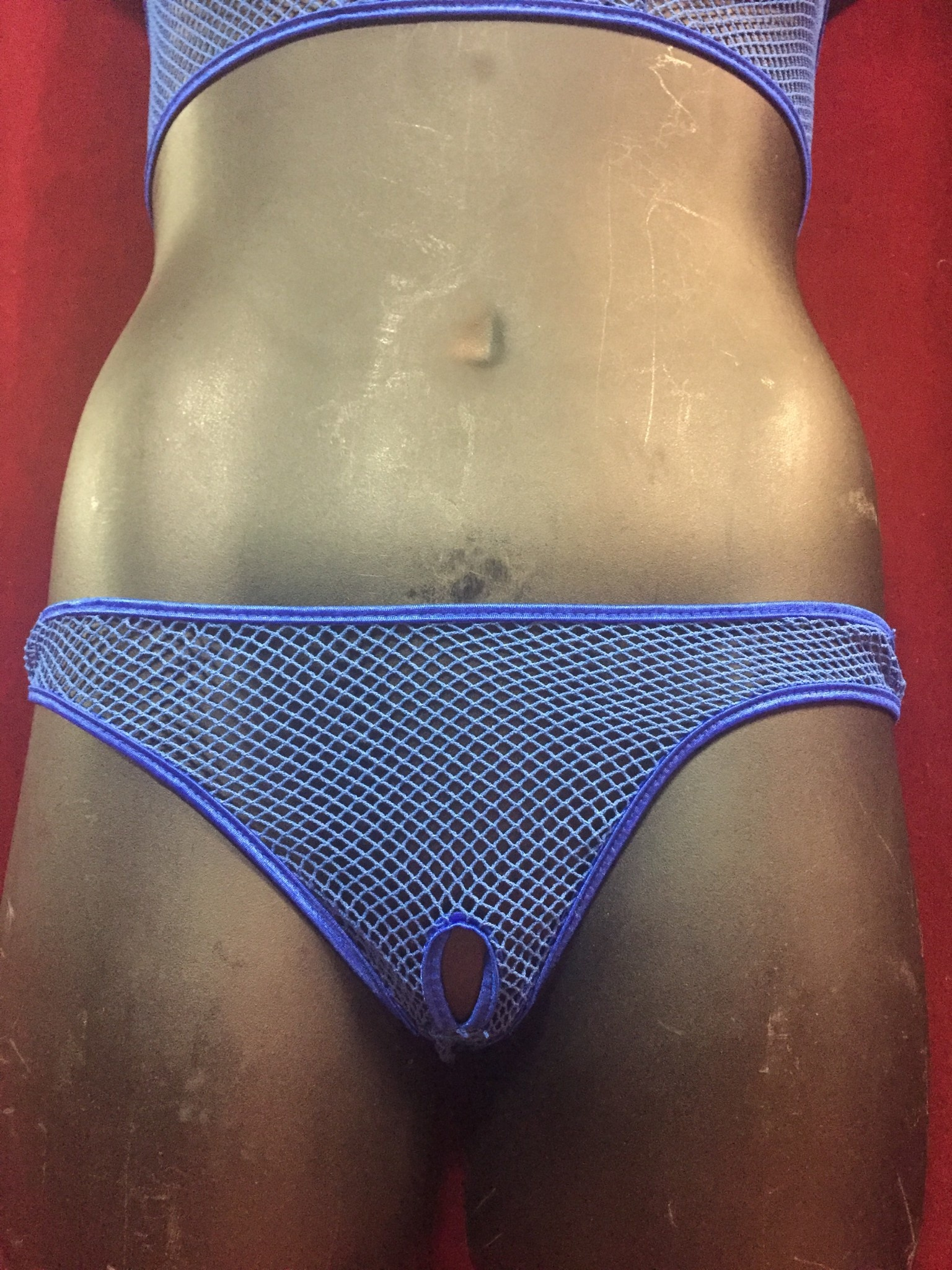Crotchless Fishnet Thong