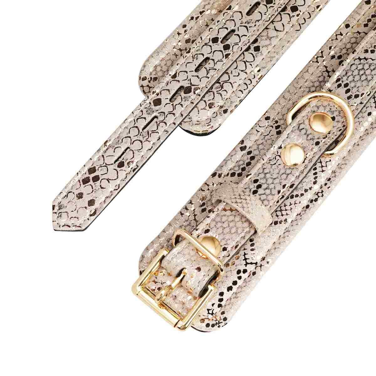 Microfiber Snake Print Ankle Cuffs