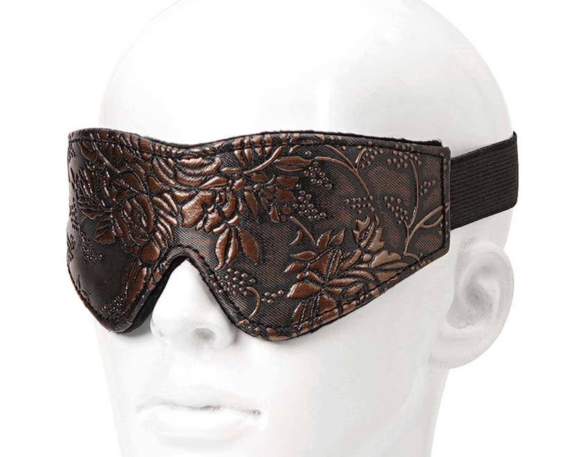 Faux Leather and Fur Blindfold