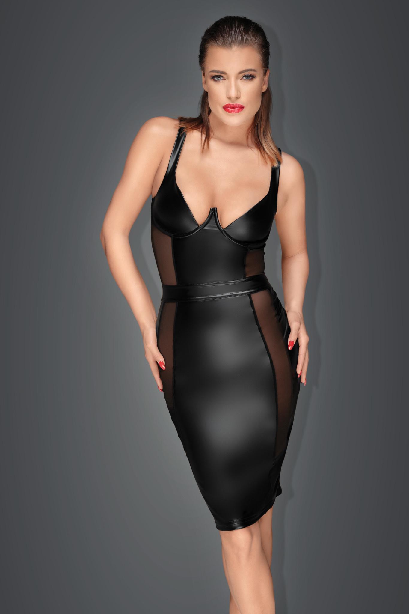 Power Wetlook Pencil Dress