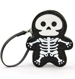 Sleepyville Sleepyville Glitter Skeleton Wrist Bag