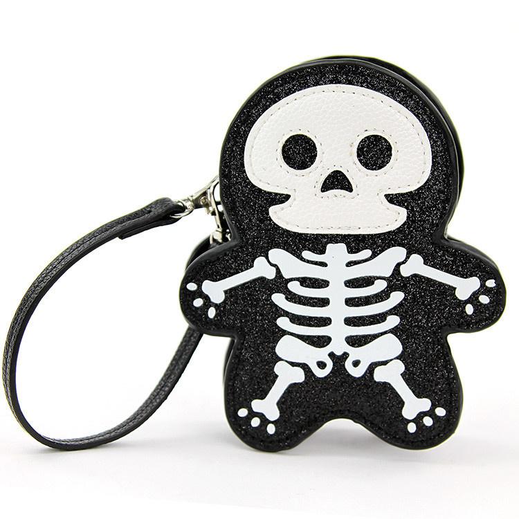 Sleepyville Sleepyville Glitter Skeleton Wrist Bag