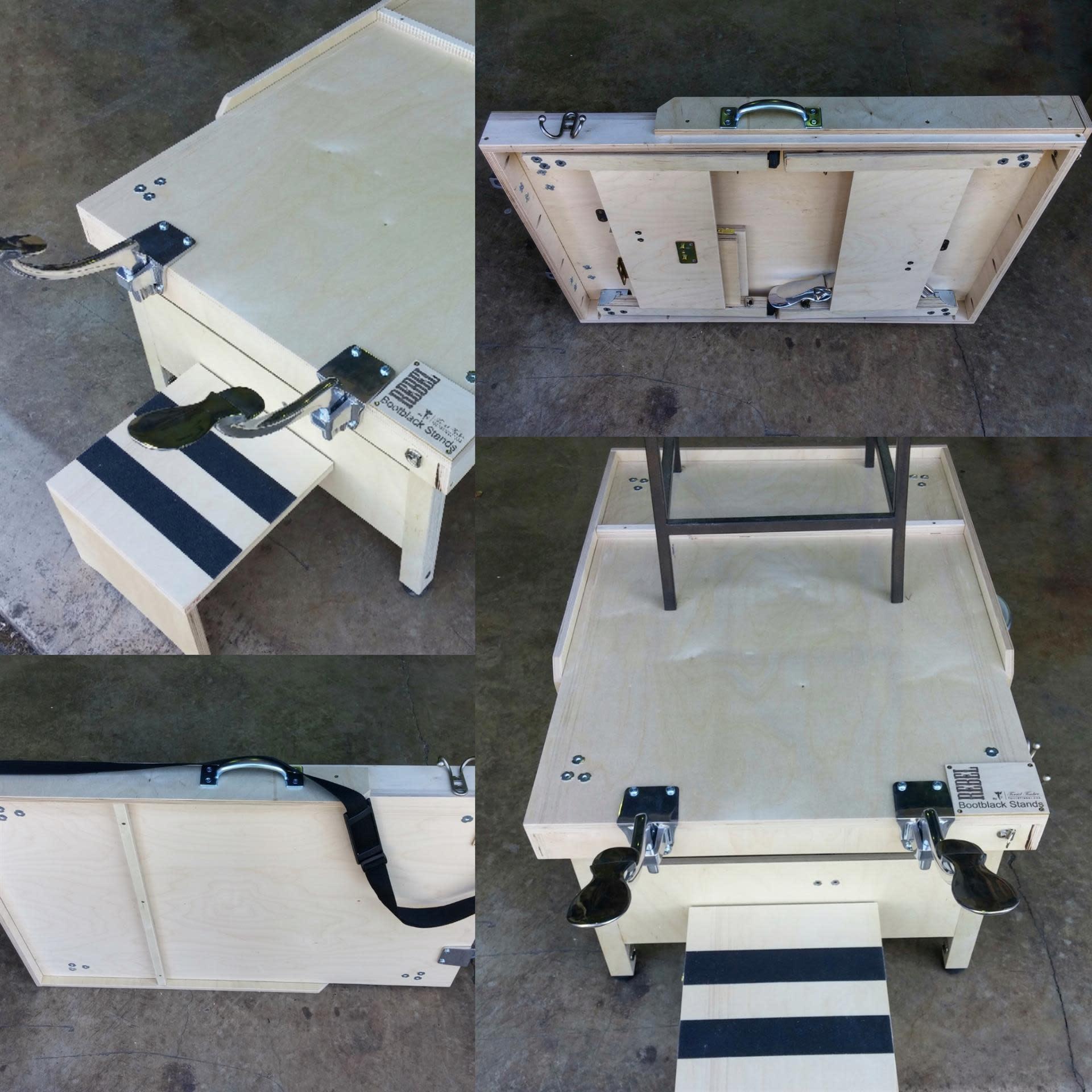 Torrid Portable Birch Bootblack Stand
