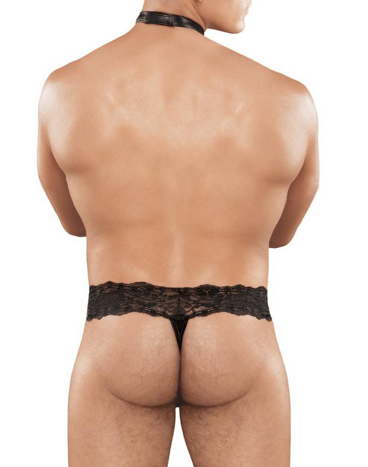 Male Power Scandal Lace Choker Thong