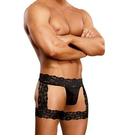 Male Power Scandal Lace Micro Garter Short
