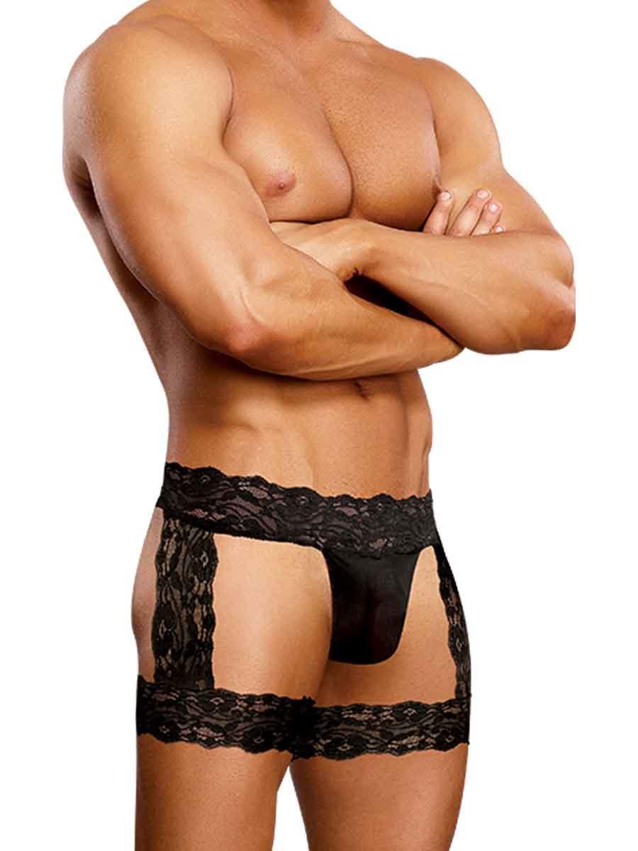Male Power Scandal Lace Micro Garter Short