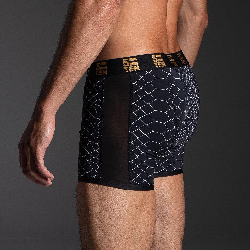 5=10 Black Mamba Mesh Snakeprint Underwear