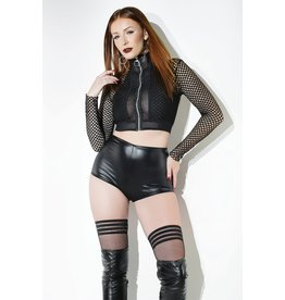 Fishnet Crop Jacket