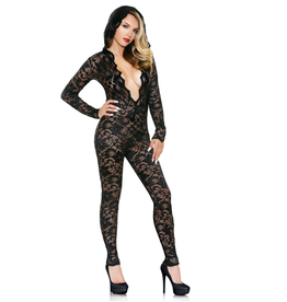 Mia Lace Hooded Jumpsuit