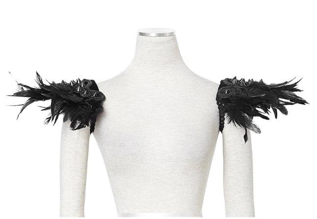 Feather Shoulder Pad / Collar