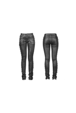 Spike Leatherette Jeans