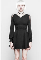 V Collar Long Sleeve Dress