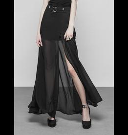 Chiffon Slit Skirt