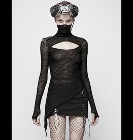 Asymmetrical Sheer Knit Top