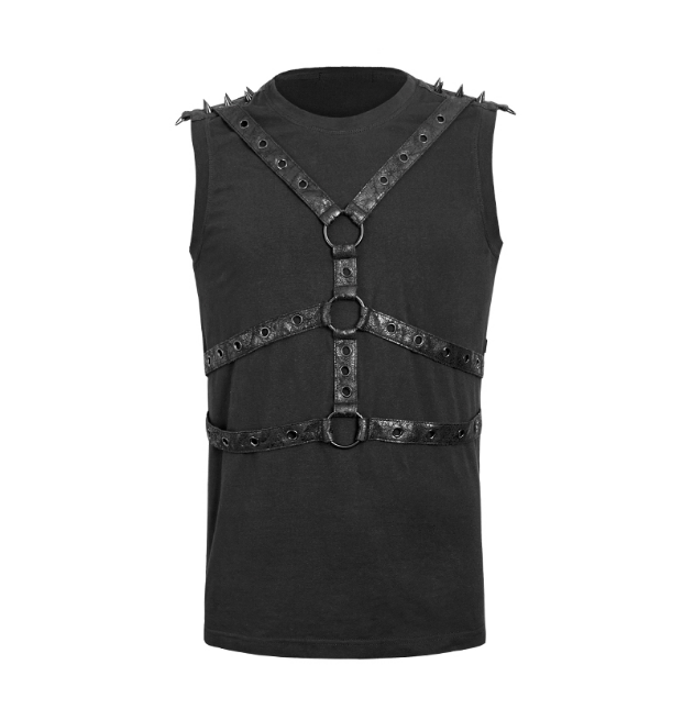 Spiked Body Harness Tank