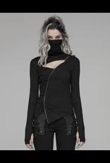 Asymmetrical Knit Mask Top