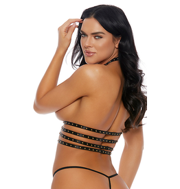 Strappy Stud Open Cup Harness