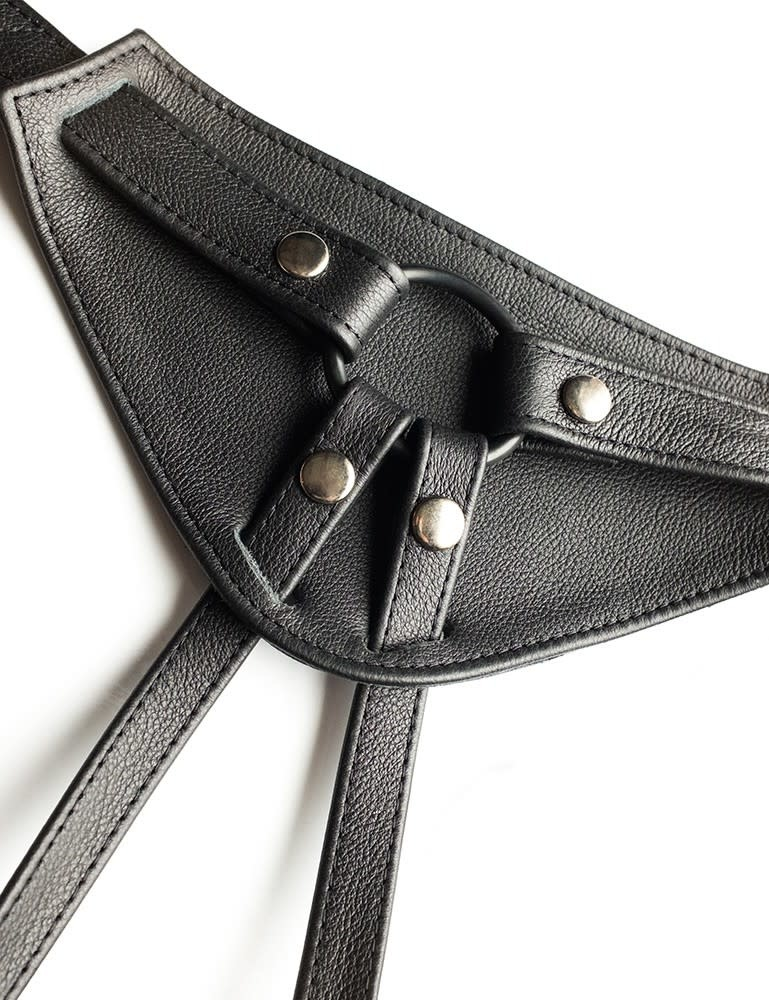JT's Stockroom Leather Full Curves Strap-On Harness