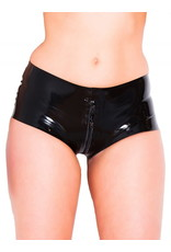Thru Zip Latex Booty Shorts