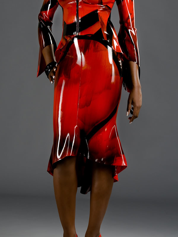 Marbled Latex Orchid Skirt
