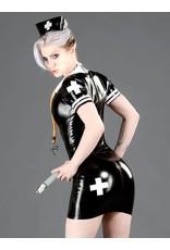 Polymoprhe Latex Nurse's Dress Black / Red Medium DP
