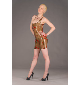 Polymorphe Splatter Latex Back Zip Cocktail Dress