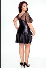 Wetlook Dress with 2 Way Zip