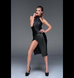 Power Wetlook 2 Way Zip Dress with Collar