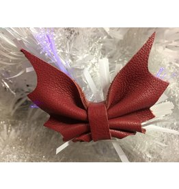 Leather Bat Bow Barette