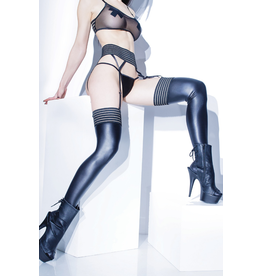 Matte Wetlook Thigh High Stockings