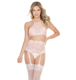 Blush Rose Halter Lace Set