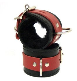 Black/Red Leather Cuffs