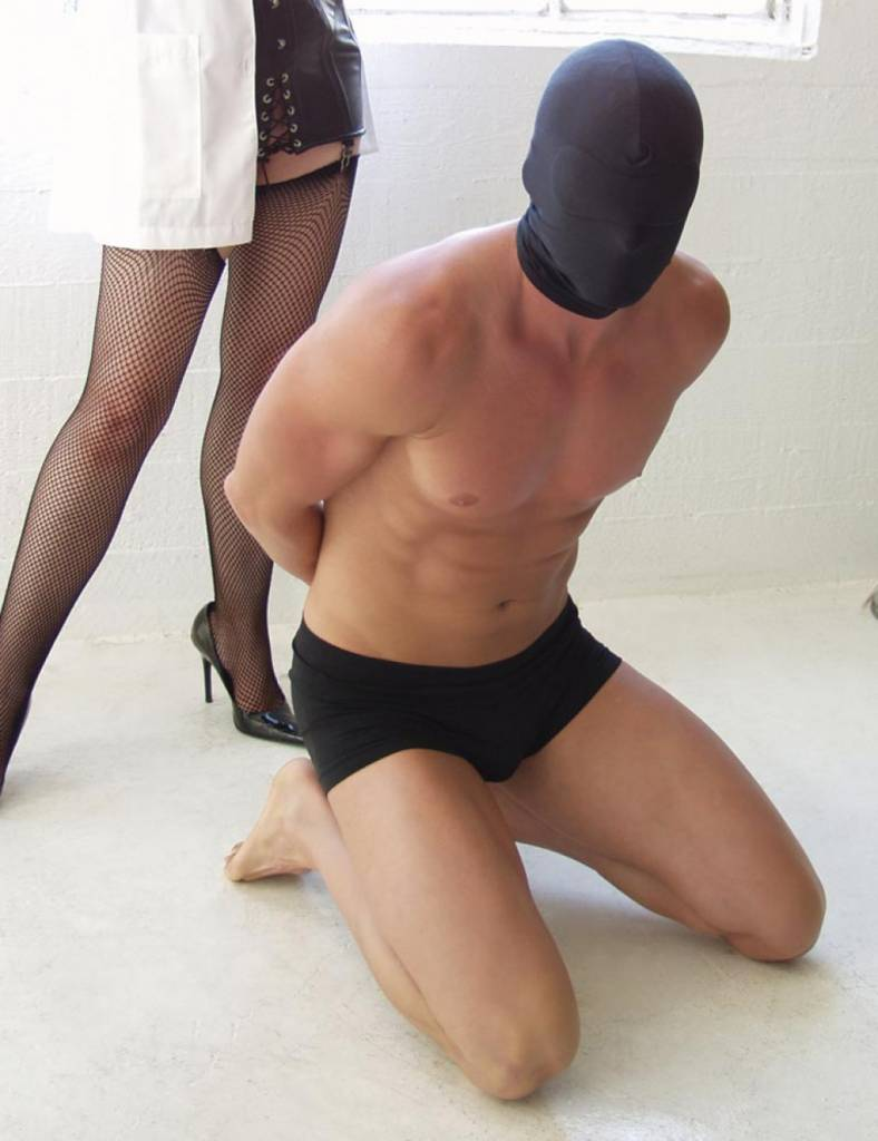 Spandex Hood With Blindfold