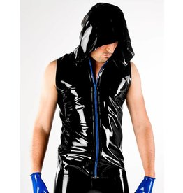 Polymorphe Latex Hooded Vest W/Zip